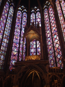 A hall of stained glass.